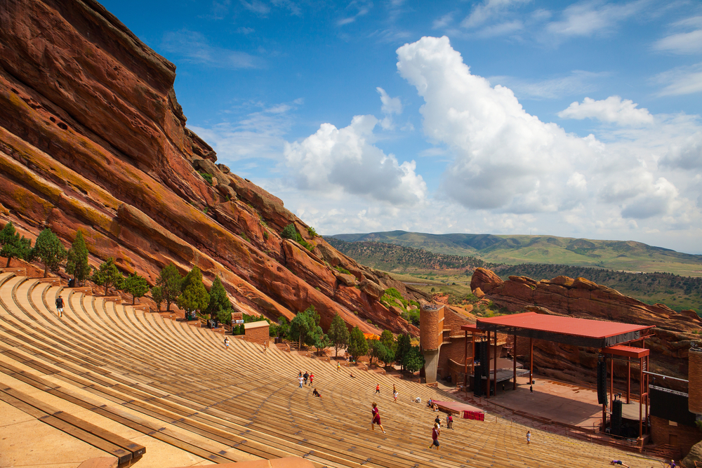 Red Rocks Concert venue in Colorado is a great place to see a show while staying sober.