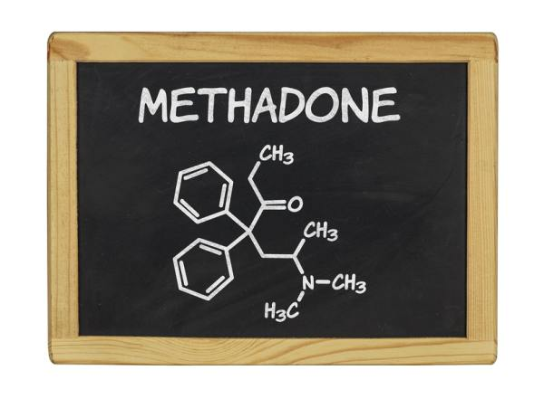 Chalkboard with the words Methadone.