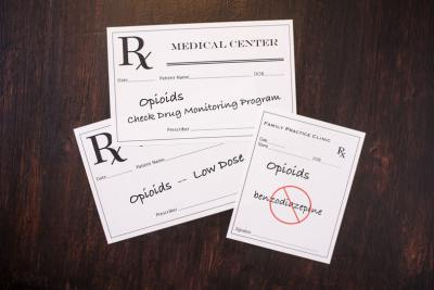 Medical Center prescription slips.