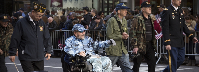 Veterans in a parade