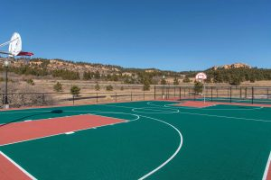 outdoor basketball court at the recovery village palmer lake