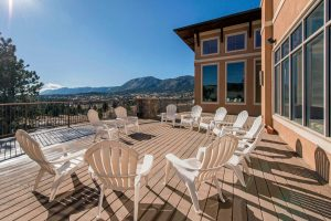 mountain view, outdoor patio at the recovery village at palmer lake